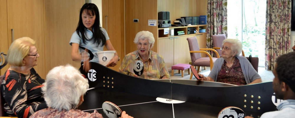 T3 Ping Pong visit care home