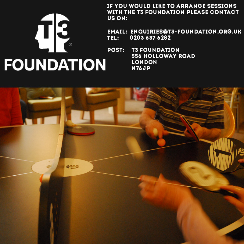 Book sessions with the T3 Foundation